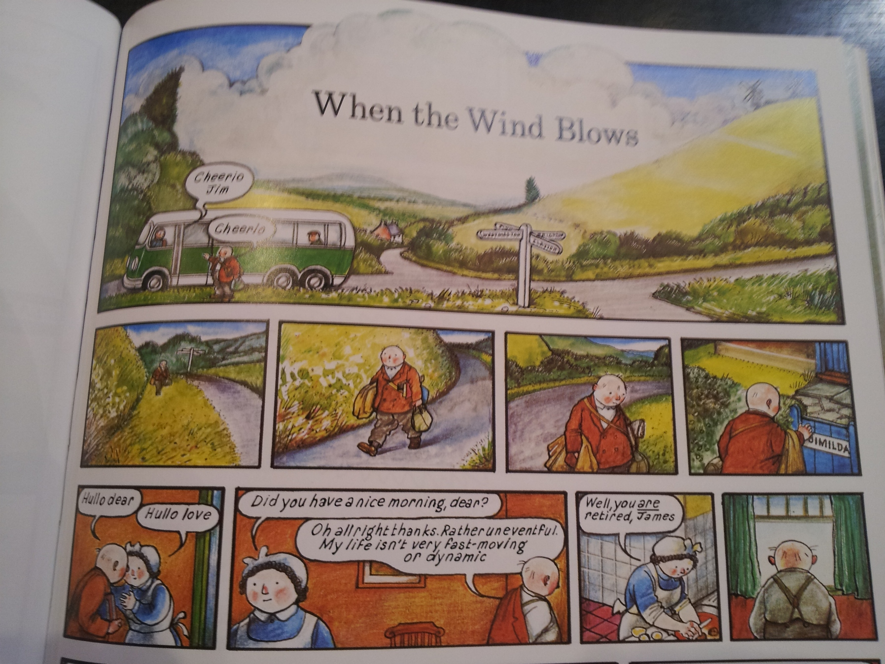 when the wind blows raymond briggs Hi all, just looking for additional notes on raymond briggs' when the wind blows , though found none so hoping i can help out someone else by posting.