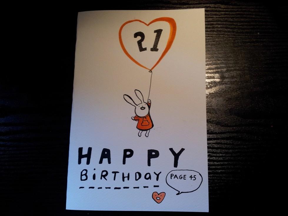 Simone Lia Birthday Card Page 45 Comics Graphic Novels