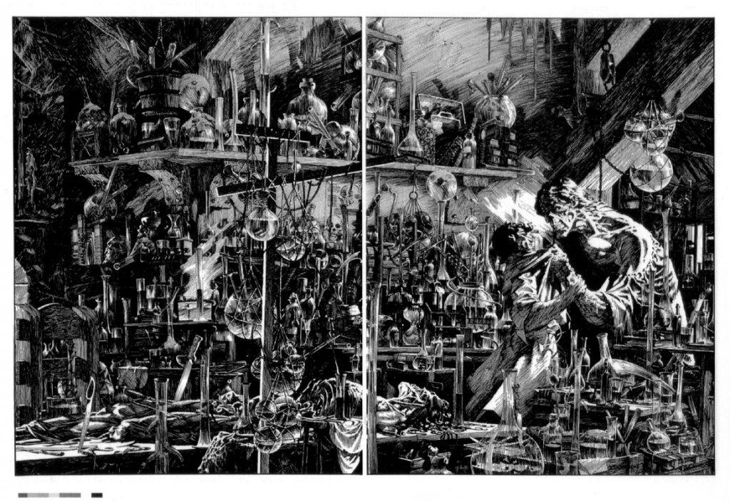 Frankenstein by Bernie Wrightson 4